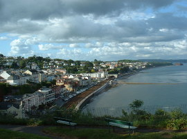 Dawlish, View of Dawlish from Old Maid Rock, Devon © Gary Reggae